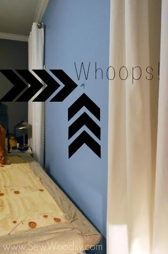 How we broke our upholstered tufted headboard... via SewWoodsy.com