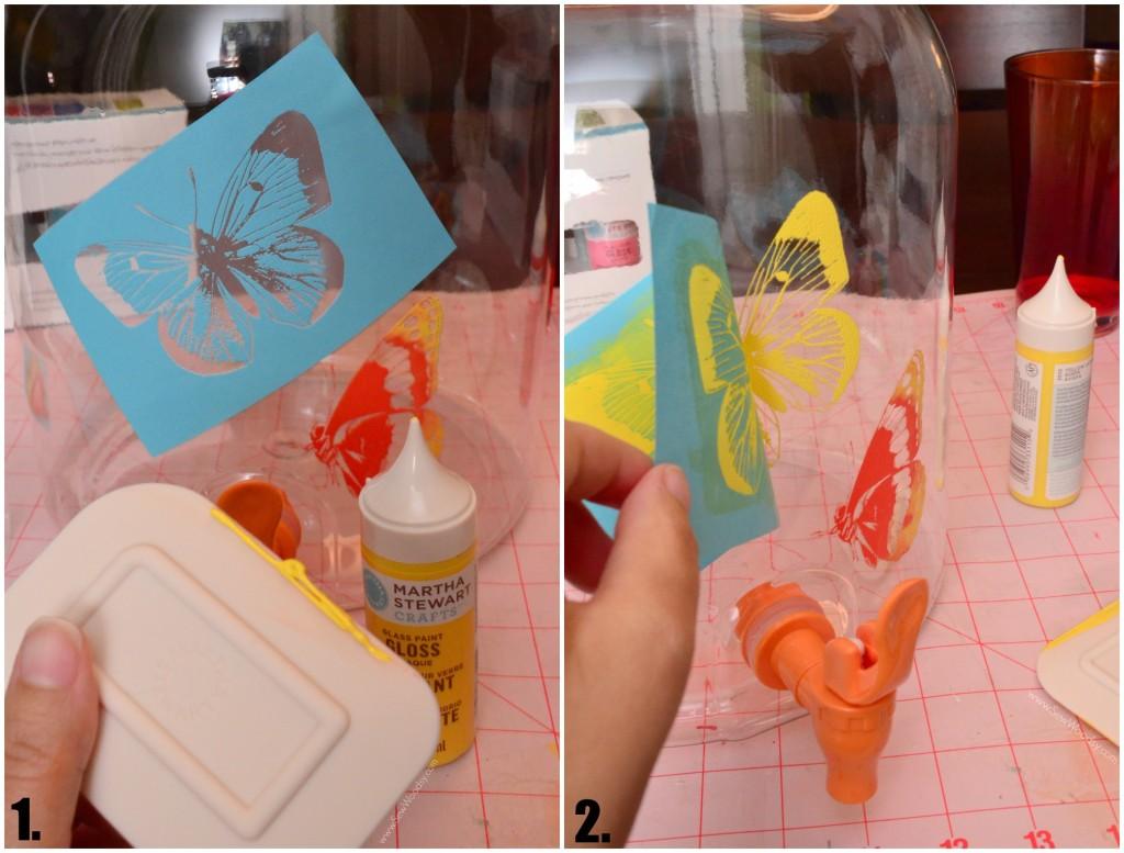 DIY Painted Drink Dispenser