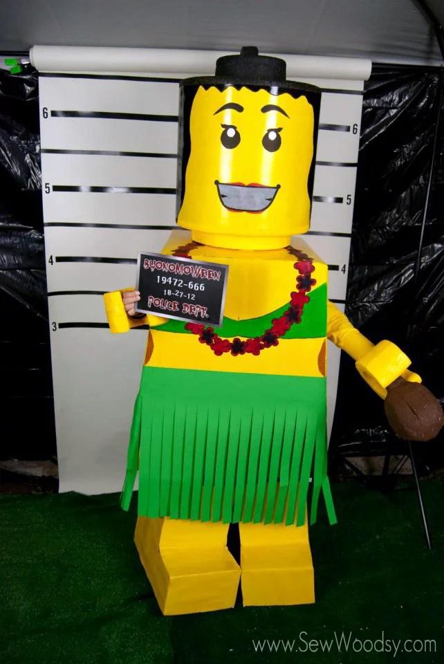 DIY Hula Lego Costume