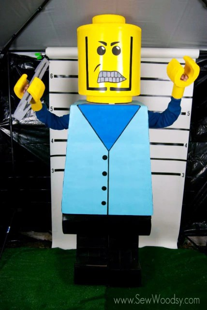 DIY Scary Lego Costume from SewWoodsy.com