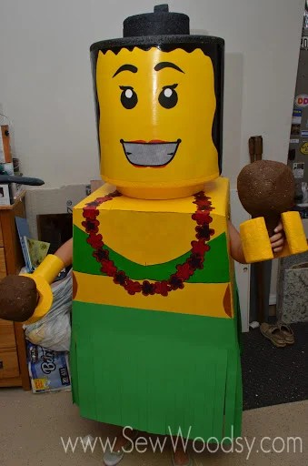 DIY Lego Costume from SewWoodsy.com