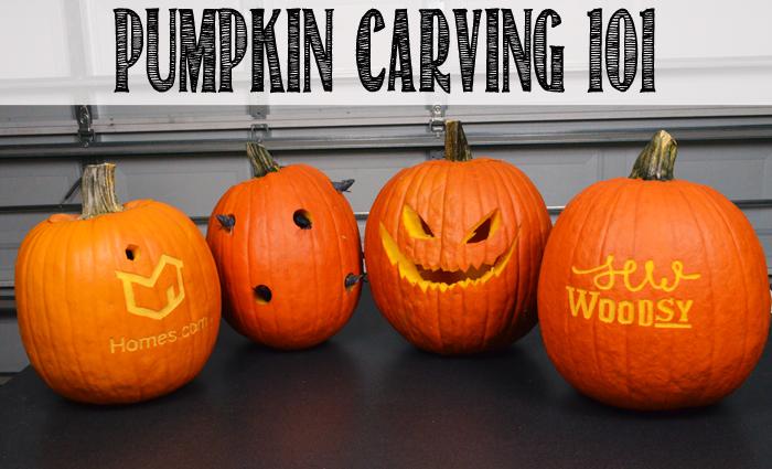 Pumpkin Carving 101 - video made for @Homesdotcom on SewWoodsy.com