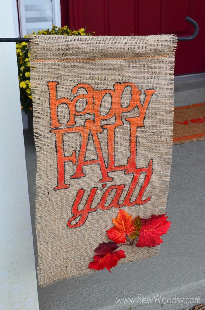 Fall Garden Flag + Video for @Homesdotcom from SewWoodsy.com