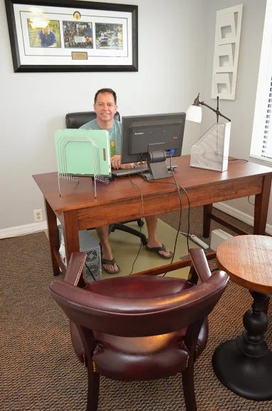 Hiram in his new office