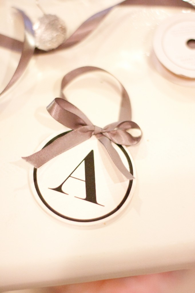 Simple Monogrammed Ornaments from A Place For Us on SewWoodsy.com