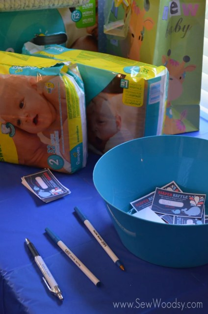 Great way to get lots of diapers for the baby--diaper raffle!