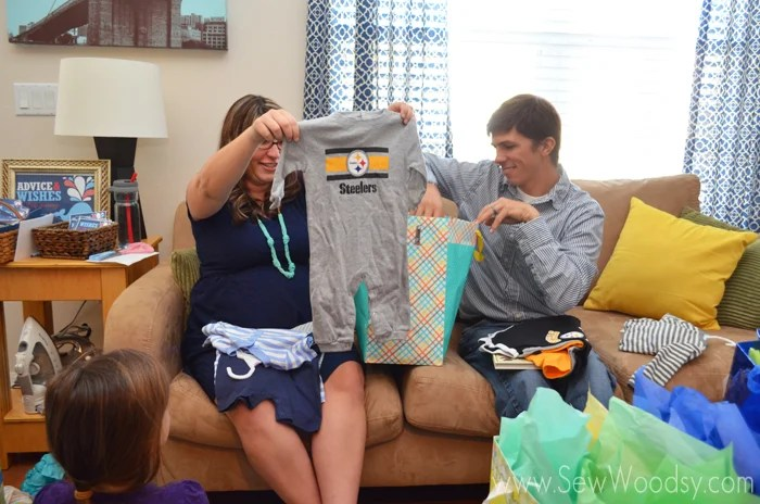 Steelers Onesie at Whale Baby Shower
