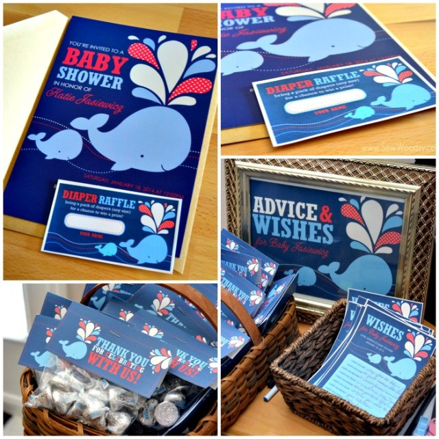 Stockberry Paper Goods for a Whale Themed Baby Shower
