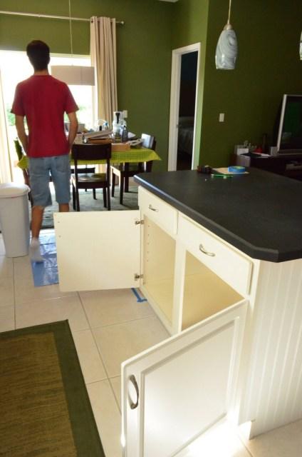 kitchen island bookcase 2