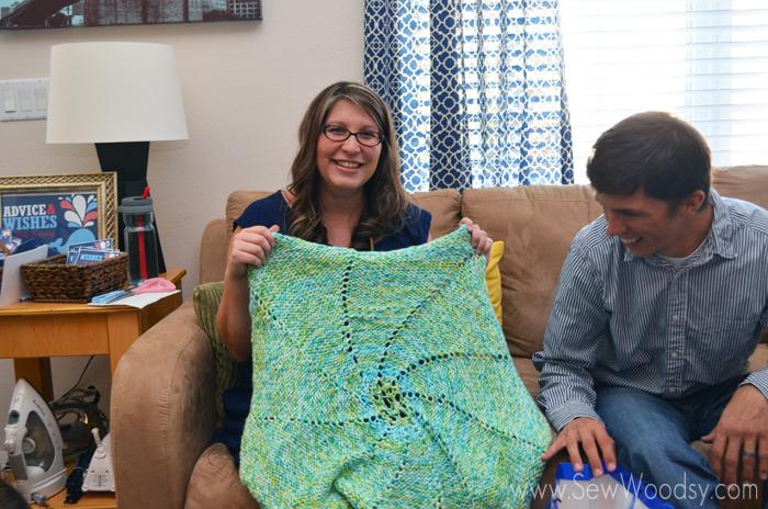 homemade knitted baby blanket