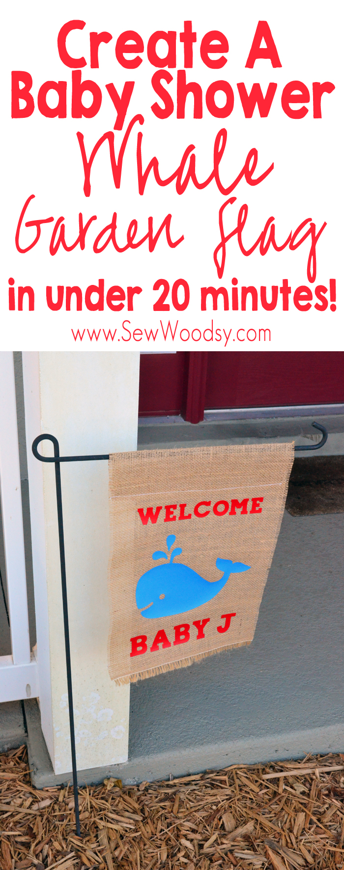 Baby Shower Whale Garden Flag in under 20 minutes