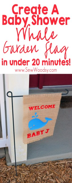 Baby Shower Whale Garden Flag in under 20 minutes