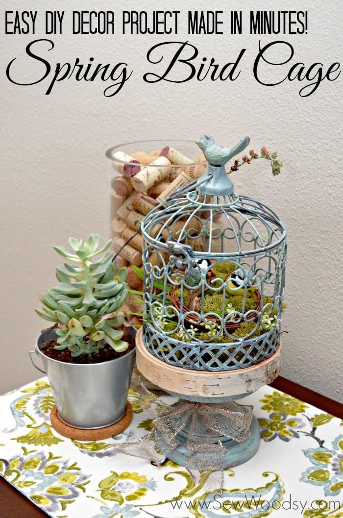 Spring Bird Cage #MPinterestParty