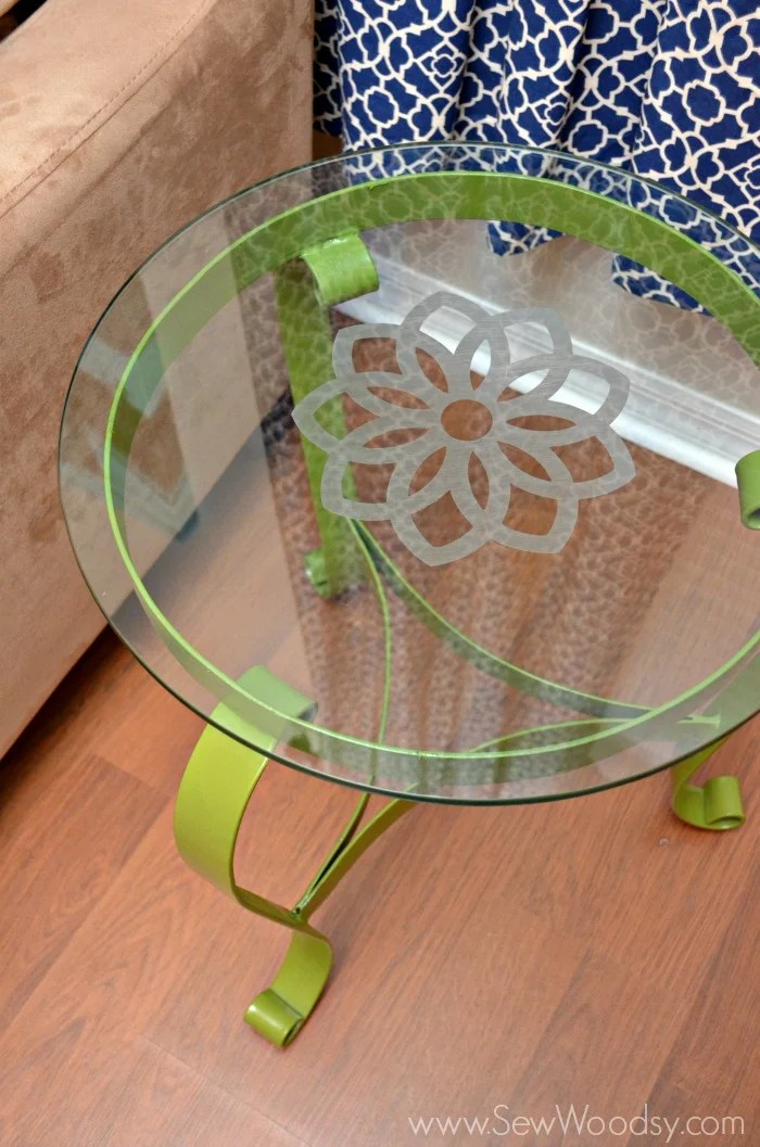 Watch the video and learn how easy it is to upcycle a glass table from SewWoodsy.com video made for @Homesdotcom
