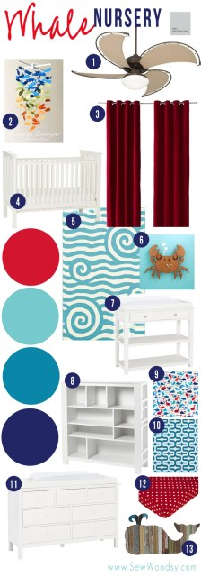 Check out the ideas we have for a whale-themed nursery!
