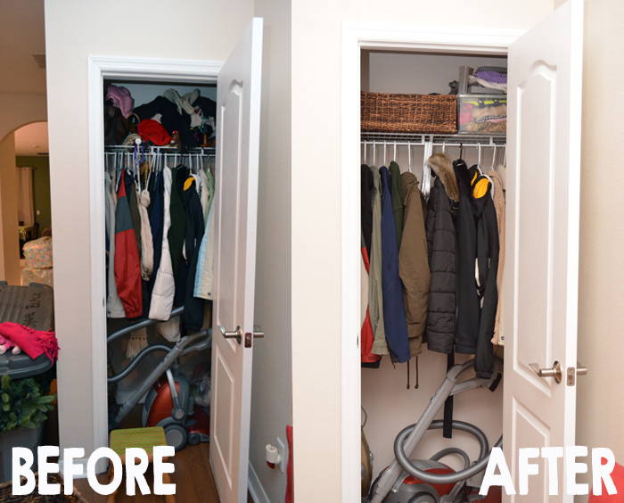 Organize the coat closet in minutes!