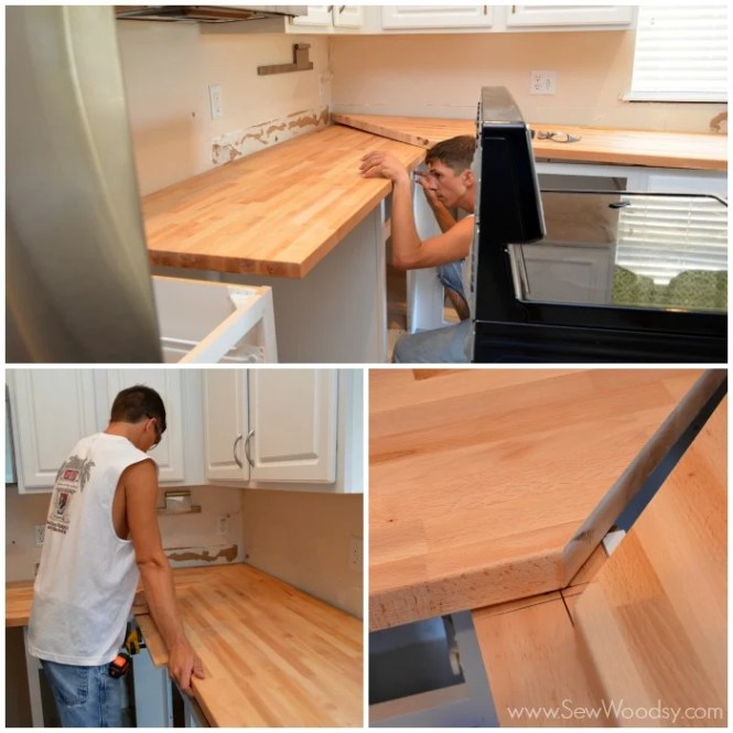 How to install a butcher block countertop bstcountertops for Install butcher block countertops