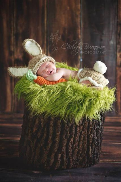 Happy Easter - Easter Bunny Newborn Photo