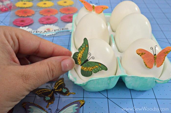 Easy Sticker Easter Eggs + Carton #12MonthsOfMartha
