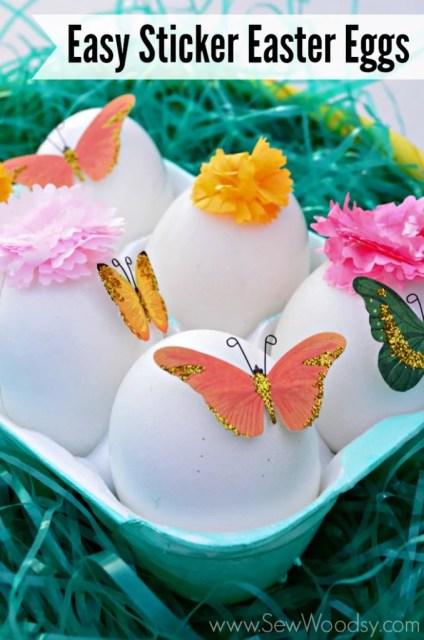 Easy Sticker Easter Eggs #12MonthsOfMartha