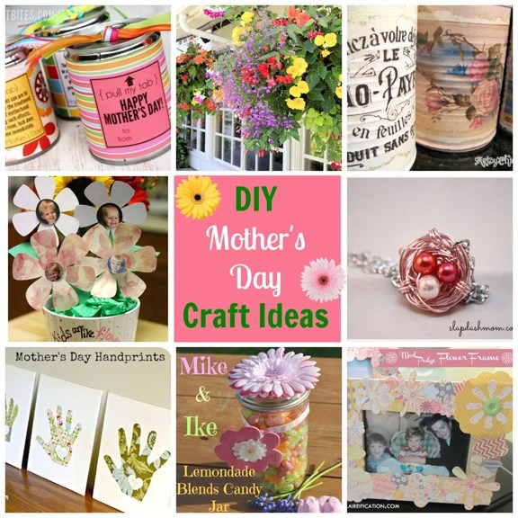 DIY Mother's Day Craft Ideas Round-Up