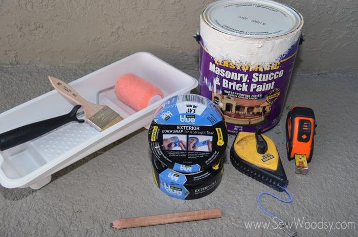 3M ScotchBlue™ Painters Tape Outdoor Painted Patio supplies