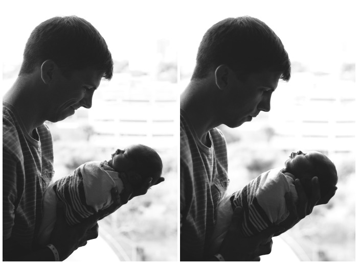 A dad and his son - Fresh 48 Newborn Photography