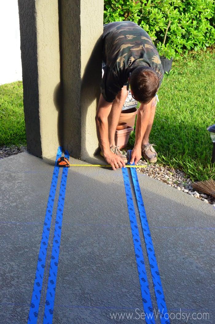 3M ScotchBlue™ Painters Tape Outdoor Painted Patio