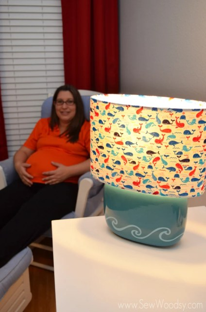 DIY Nursery Whale Lamp