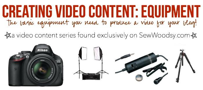 Creating Video Content Equipment