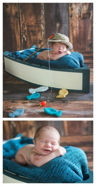 Fishing Baby - Newborn Photography Session