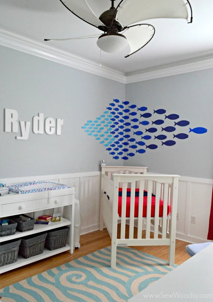 Paper Fish Nursery Decor
