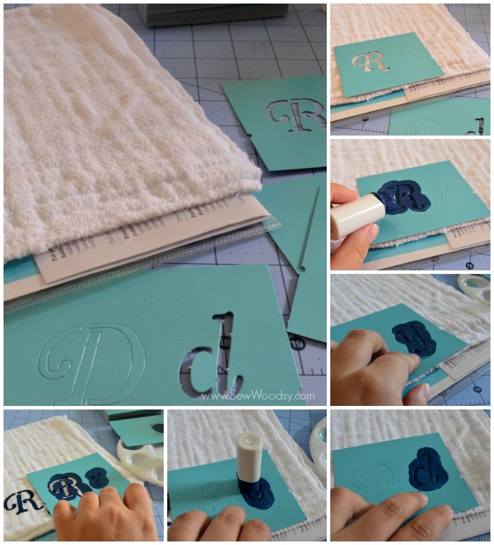 nautical burp cloth from @KatieJasiewicz #12MonthsOfMartha #MarthaStewartCrafts #Baby