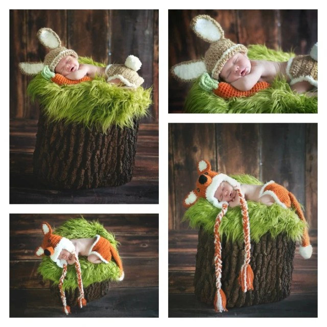 whimsical baby animals - Newborn Photography Session