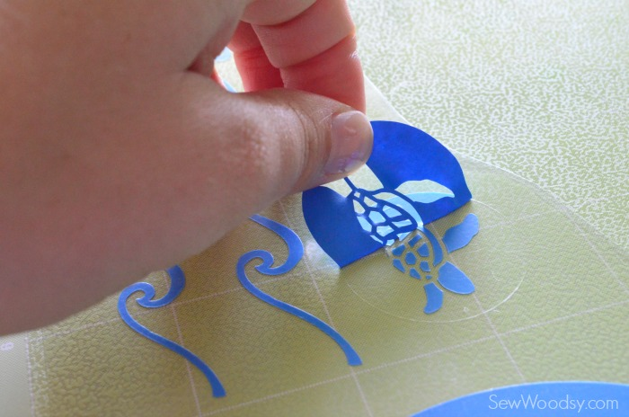 DIY Iron-On Vinyl Turtle Name Onesie & Pants