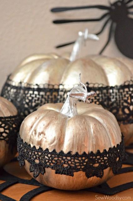 Decorative Lace Pumpkins