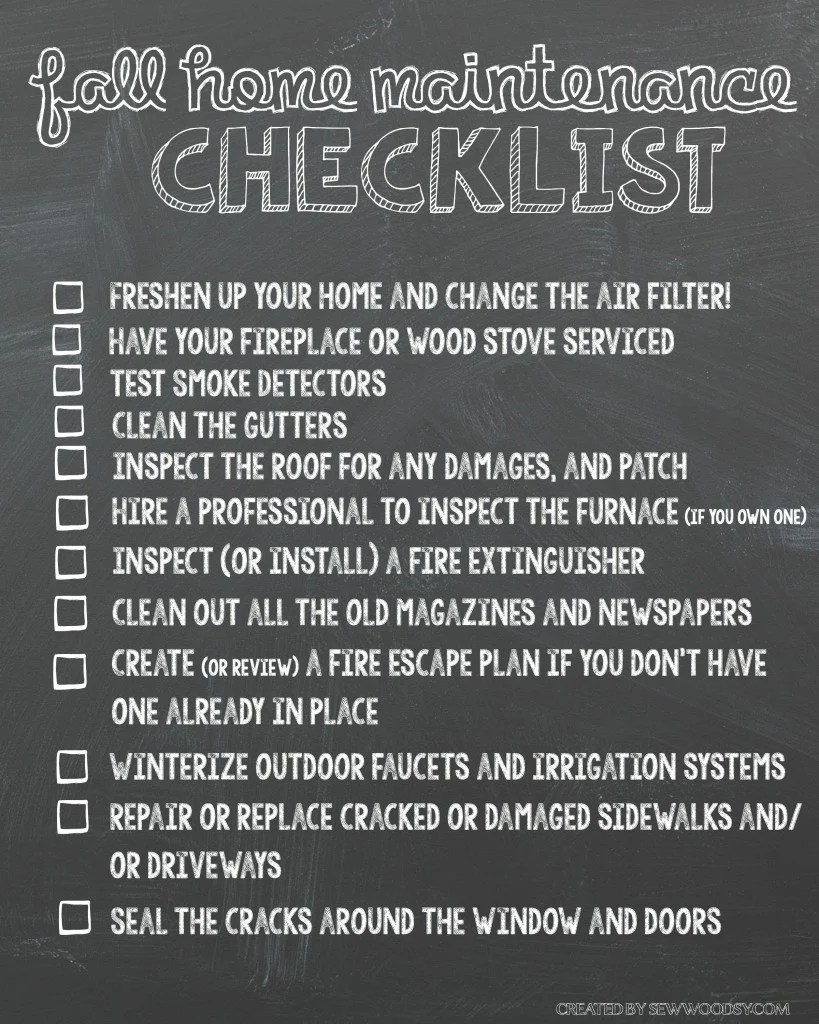 Fall Home Maintenance Checklist Printable #HealthierHome
