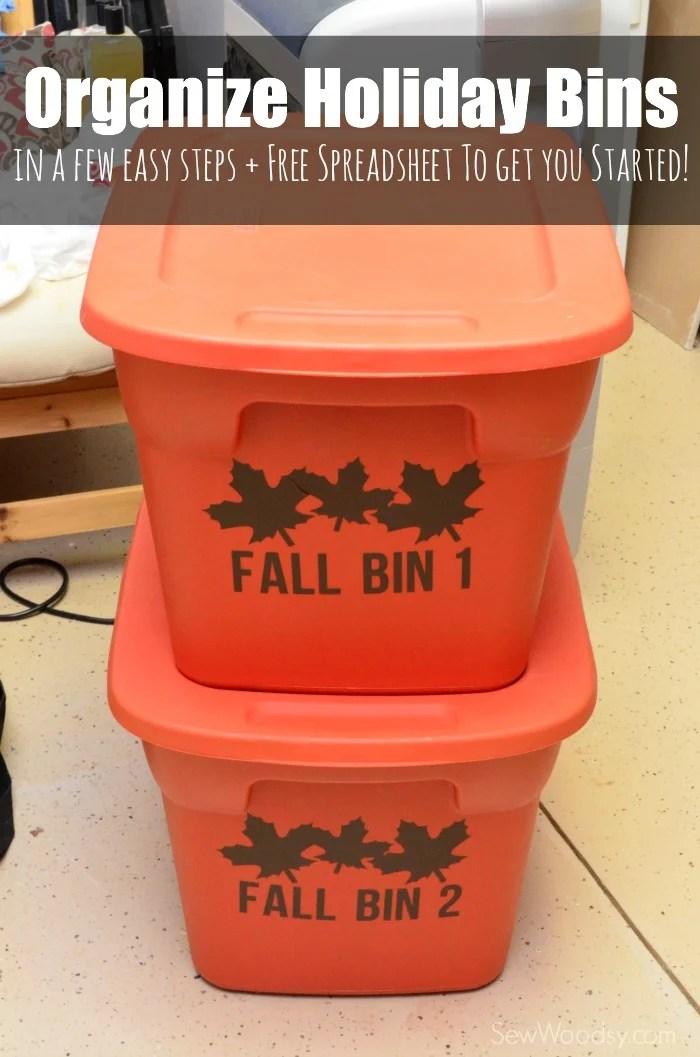 Organize Holiday Bins 7