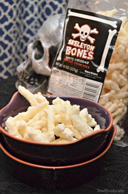 Skeleton Bones White Cheddar Cheese Crunchies