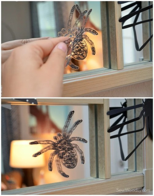Spider window clings