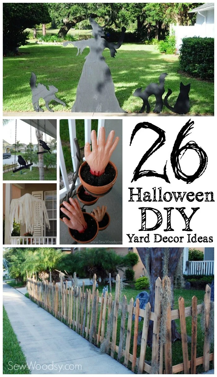 26 Halloween DIY Yard Decor Ideas Sew Woodsy
