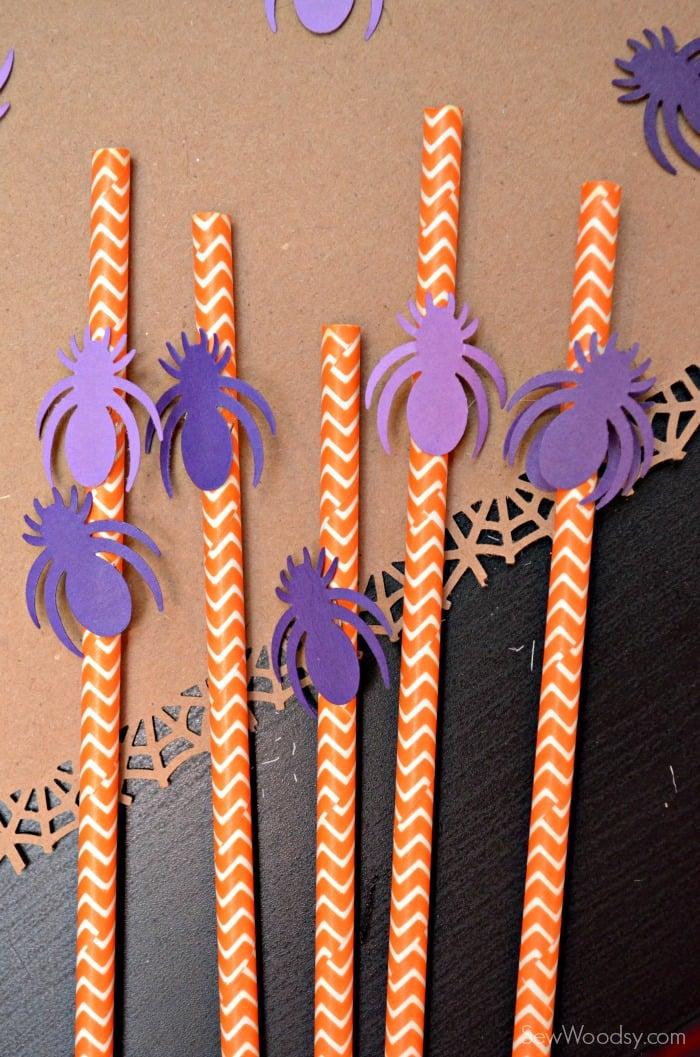 Easy Spider Paper Straws