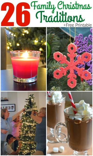 26 Family Christmas Traditions + Printable
