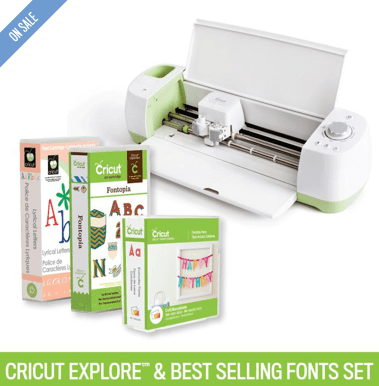 Cricut Explore® Machine + Best-Selling Fonts Set