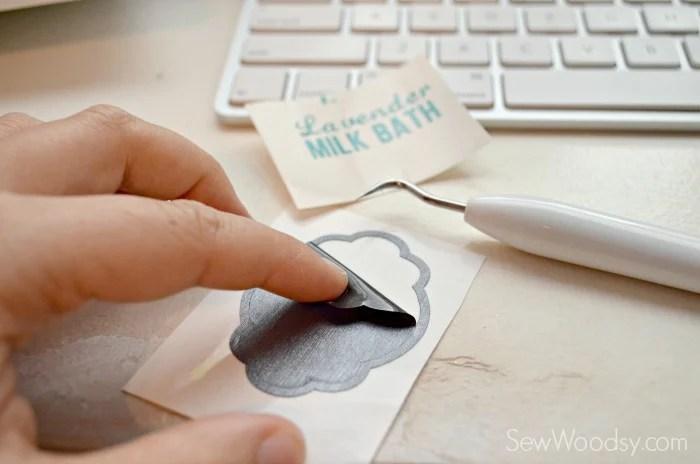 DIY Lavender Milk Bath with Label 1