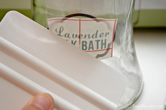 DIY Lavender Milk Bath with Label 8