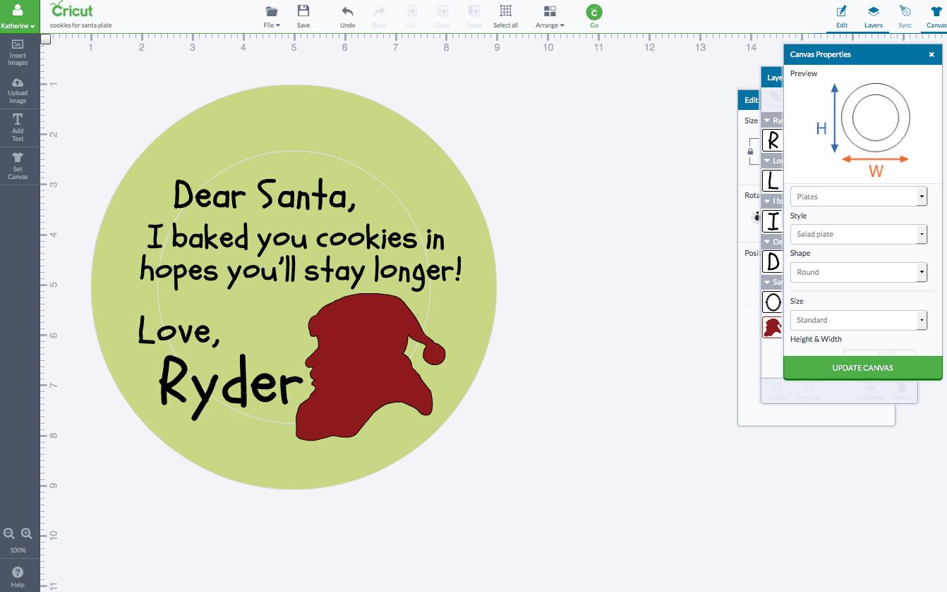 DIY Personalized Santa Cookie Plate 1
