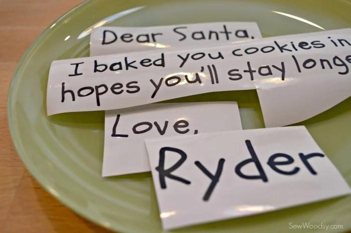 DIY Personalized Santa Cookie Plate 2