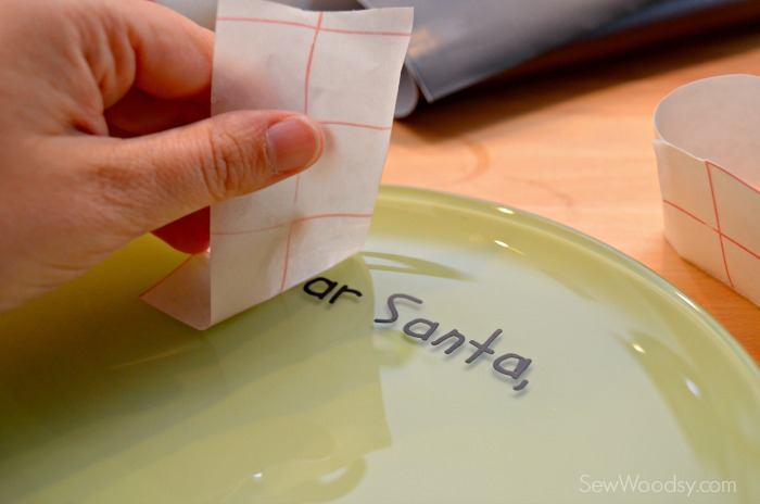 DIY Personalized Santa Cookie Plate 5