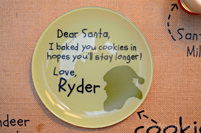 DIY Personalized Santa Cookie Plate 6